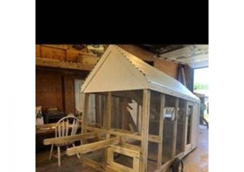 Custom Mobile Chicken Coop FREE Delivery